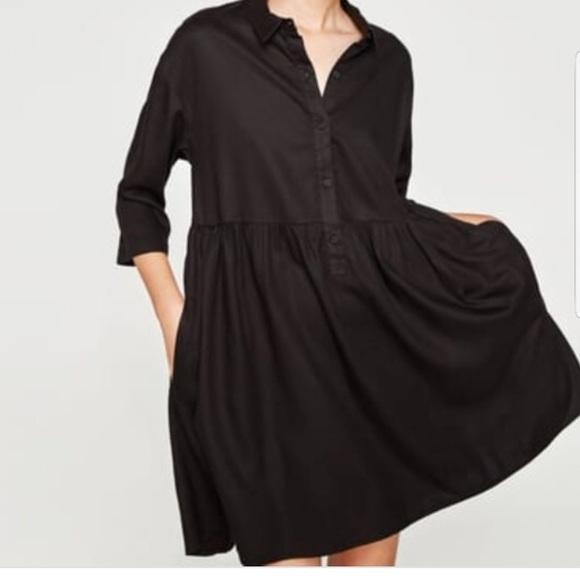 2d3d8b25 ZARA ruffle shirt dress. M_5b99a09803087c480ed02067